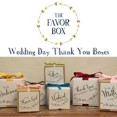 6 - Wedding Day Thank You Card Boxes  ~  we ❤ this! moncheribridals.com #weddinggiftboxes