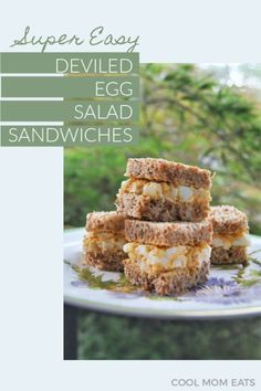 This easy, delicious deviled egg salad recipe is so perfect if you need a way to use up all those hard-boiled eggs from Easter, or just a failsafe rec Spring Recipes, Easter Recipes, Tea Recipes, Brunch Recipes, Baby Food Recipes, Salad Recipes, Snack Recipes, Party Recipes, Crab Deviled Eggs Recipe