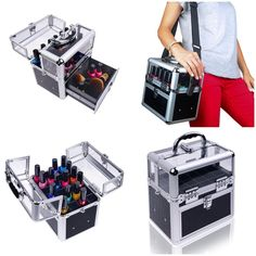 $86.99 Travel Cosmetic MakeUp Nail Polish Organizer Case Storage Container Trunk