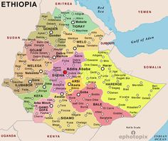 80 Best Ethiopia Map images | Ethiopia, Map, Horn of africa Administrative Map Of Ethiopia on