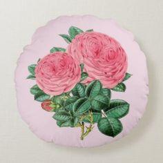 Designer Home Décor by Susan: Vintage Inspired Home Decor Floral Pillows, Soft Pillows, Throw Pillows, Round Pillow, Botanical Flowers, Home Decor Shops, Inspired Homes, Vintage Pink, Soft Fabrics