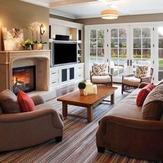 3 Great Cool Ideas: Living Room Remodel With Fireplace Tvs livingroom remodel wood trim.Living Room Remodel On A Budget Simple livingroom remodel fixer upper.Living Room Remodel On A Budget How To Make. Living Room Seating, Living Room Remodel, New Living Room, Living Room Furniture, Small Living, Living Place, Wicker Furniture, Furniture Stores, Off Center Fireplace
