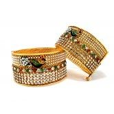 peacock-style-ruby-green-cz-gold-plated-2pc-broad-bangle-2-6-size-a-muhenera-collection-ai52303