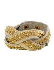 Miso Studded Leather Bracelet