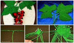 "The second part of the master class on weaving panels ""red currant"" in macrame technique. Here it is shown how to weave the leaves. I continue to workshop, the Scourge currant leaf. In advance, I say that all the MK is very large. In work using all of the same filament ""ROSE"", thin thread 50 …"