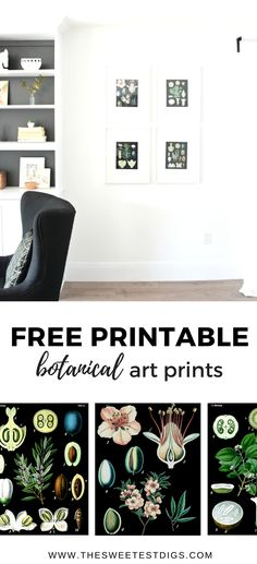 Free Vintage Botanical Art Prints for your Home. G…