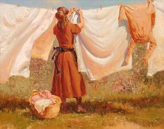 Laundry Day. Oil by Buck McCain. 2008.