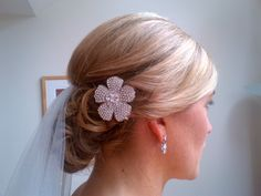 Stunning bridal hair with accessories.