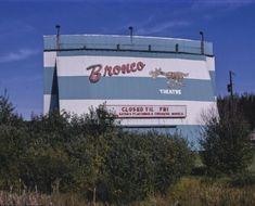 Bronco Drive-in Theater Bemidji Minnesota Color Photo Print Bemidji Minnesota, Belleville Illinois, Robert Wood, Paul Bunyan, Drive In Movie Theater, Press Photo, Ox, Babe, Poster Prints
