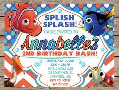 Finding Nemo Invitation, Finding Nemo Invite, Finding Nemo Birthday, Finding Nemo Party, Kids Birthday Invitation, Dory PRINTABLE / PRINTED by PlayOnWordsArt on Etsy https://www.etsy.com/listing/230957411/finding-nemo-invitation-finding-nemo
