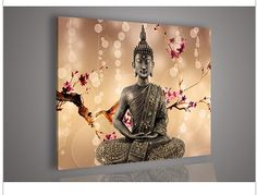 Religion Buddha Wall Art Oil Painting On Canvas by kunpeng on Etsy, $49.99 Bought this painting on Amazon in five separate panels. I think that version is better.