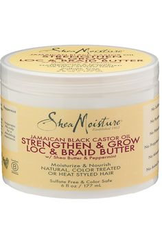 Shea Moisture Jamaican Black Castor Oil Strengthen & Grow Loc & Braid Butter 6 Ounce