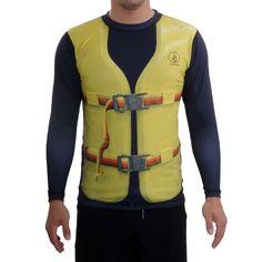 Sort ton gilet de sauvetage avec le #Lycra Volcom Floater ! Rashguard UV 50+