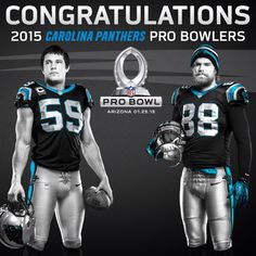 Tight end Greg Olsen and linebacker Luke Kuechly were chosen to play in the game, scheduled for January 25, 2015.