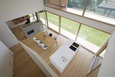 Haus DB Klaus — ARCHITEKTUR Jürgen Hagspiel Concrete Wood, House On A Hill, Cladding, Corner Desk, Tiny House, Sweet Home, Villa, Windows, Architecture