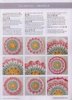 Gallery.ru / Фото #51 - Многоцветное вязание, бабушкин квадрат, мандала крючком - Malinka-Malinka