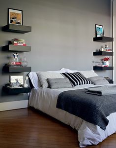 Modern Shelves to show off some personality [ SpecialtyDoors.com ] #bedroom #hardware #slidingdoor