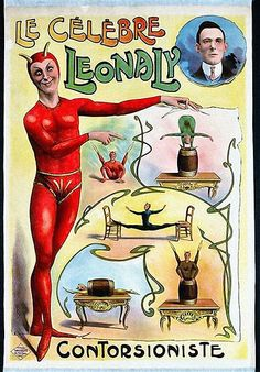 The Famous Leonaly, Contortionist- 1919 circus poster