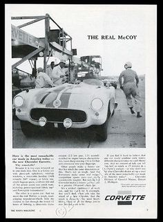 1956 #chevrolet corvette race car racetrack #photo #vintage print ad,  View more on the LINK: http://www.zeppy.io/product/gb/2/361537745893/