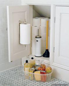 Bathroom/toilet paper storage