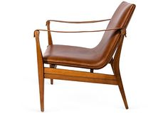 Leather Sling Armchair - Silhouette View