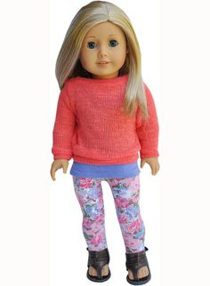 American Girl Clothes Coral & Violet by LoriLizGirlsandDolls, $8.00