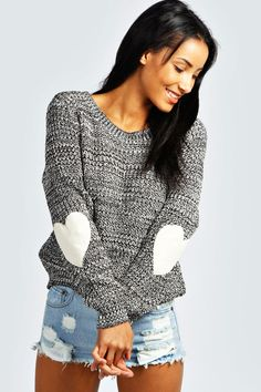 Elbow patch top! So cute!