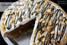 Chocolate Caramel Turtle Pie -  Butter_with_a_Side_of_Bread