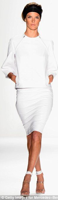 Stylish: KaufmanFranco was praised for its sleek white (modelled by Alessandra Ambrosio)