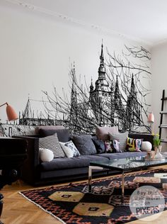 Wall Mural Prague Castle - inspiration wall mural, interiors gallery• PIXERSIZE.com