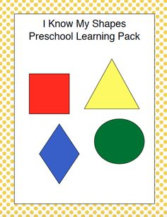 Teach your preschoolers about shapes with this free printable! | homeschoolpreschool.net