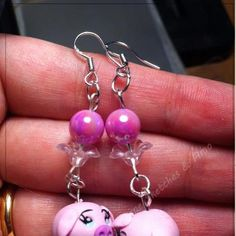 Little pigs earrings HandMade Polymer Clay by Marienne Sketches & Fimo Creations