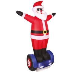 INFLATABLES CHRISTMAS 7' Santa Airflown Holiday Decoration #HolidayTime