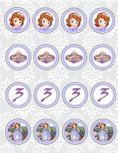 Princess Sofia Cupcakes, Sofia Cake, Princess Sofia Birthday, Sofia The First Birthday Party, Princess Party, 3rd Birthday, Scrap, Princesas Disney, Bottle Crafts