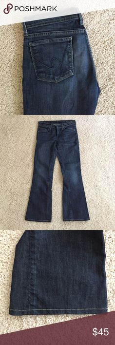 Citizens of Humanity Low waist flare jeans Ingrid #002 style with custom hem.  27.5 in inseam. In great shape. Citizens of Humanity Jeans Flare & Wide Leg