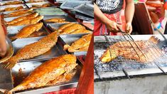 Street food grilled fish at Purbachal Dhaka. BBQ fish video by AmarVideo Grilled Steak Recipes, Grilling Recipes, Fish Recipes, Beef Recipes, Beef Ribs, Gluten Free Dinner, Fried Fish, Bbq Chicken, Street Food