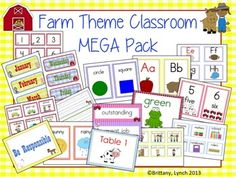 Make your classroom moo-valous with this adorable Farm Classroom Theme MEGA Pack. 156 pages of decorations, cards/posters, nametags, etc.