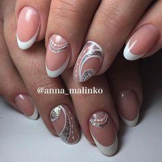 Manicure francesa glitter wedding nails ideas for 2019 Funky Nail Art, Dot Nail Art, Nail Art Diy, Easy Nail Art, Glitter French Manicure, French Tip Nails, Nail Manicure, Nail Polish, Manicure Ideas