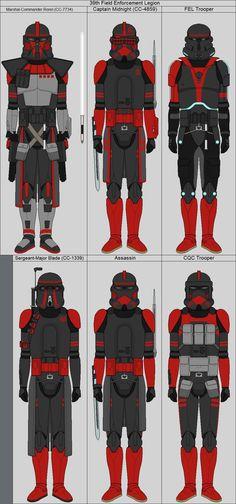 Field Enforcement Legion by MiddytheKnight on DeviantArt Star Wars Rpg, Star Wars Clone Wars, Lego Star Wars, Star Wars Concept Art, Star Wars Fan Art, Star Wars Pictures, Star Wars Images, Star Wars Timeline, Star Wars Outfits