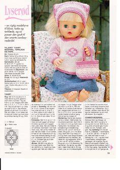 Bilde: Free Knitting, Knitting Patterns, Baby Born, Pattern Books, Doll Clothes, Crochet Hats, Album, Barbie, Dolls