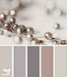Beaded tones palette, from Design Seeds Wall Colors, House Colors, Paint Colors, Pantone, Dusty Purple, Purple Rose, Pale Pink, Greyish Purple Paint, Purple Grey