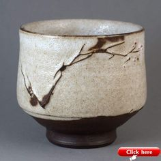 Spring tea bowl by Paul Fryman. Black clay, red slip, white crackle glaze, width cm height cm, volume about 170 ml Japanese Ceramics, Japanese Pottery, Pottery Bowls, Ceramic Pottery, Slab Pottery, Matcha, Pottery Marks, Black Clay, Wheel Thrown Pottery