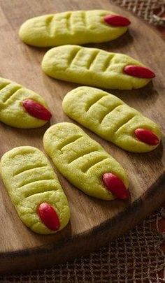 Frankenstein's Monster's Toes ~ so easy... made with sugar cookie mix