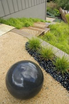 stones, land art, xeriscaping, crushed granite