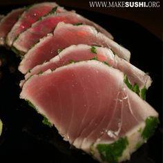 Tuna Sashimi Seared in Coriander