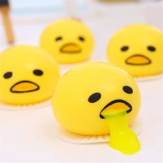 Kids Toy Gift Funny Novelty For Bag Accessories Cute Vomiting Egg Vent Phone Straps Anti Stress Scented Halloween Jokes Luggage & Bags