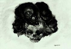 Skull Paintings by Luke Kopycinski