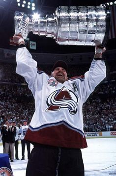 Ray Bourque holding the Stanley Cup | Colorado Avalanche | NHL | Hockey