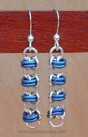 chainmaille stud earrings - Google Search