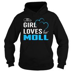 This Girl Loves Her MOLL - Last Name, Surname T-Shirt